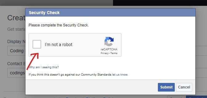 facebook app check robotics