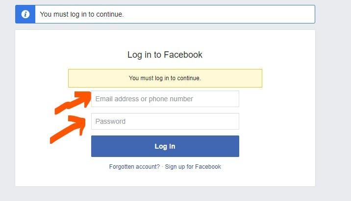 facebook app login with fb account