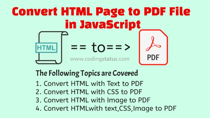 html to pdf in javascript