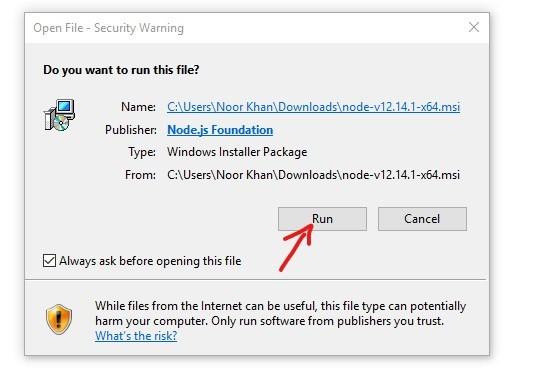 download & install node.js