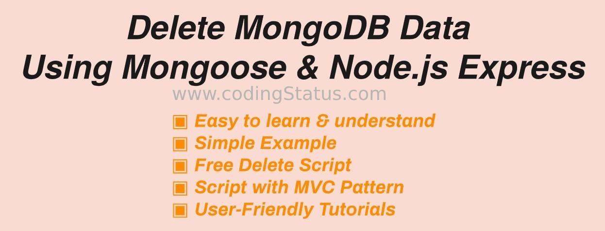 Delete MongoDB Data using mongoose