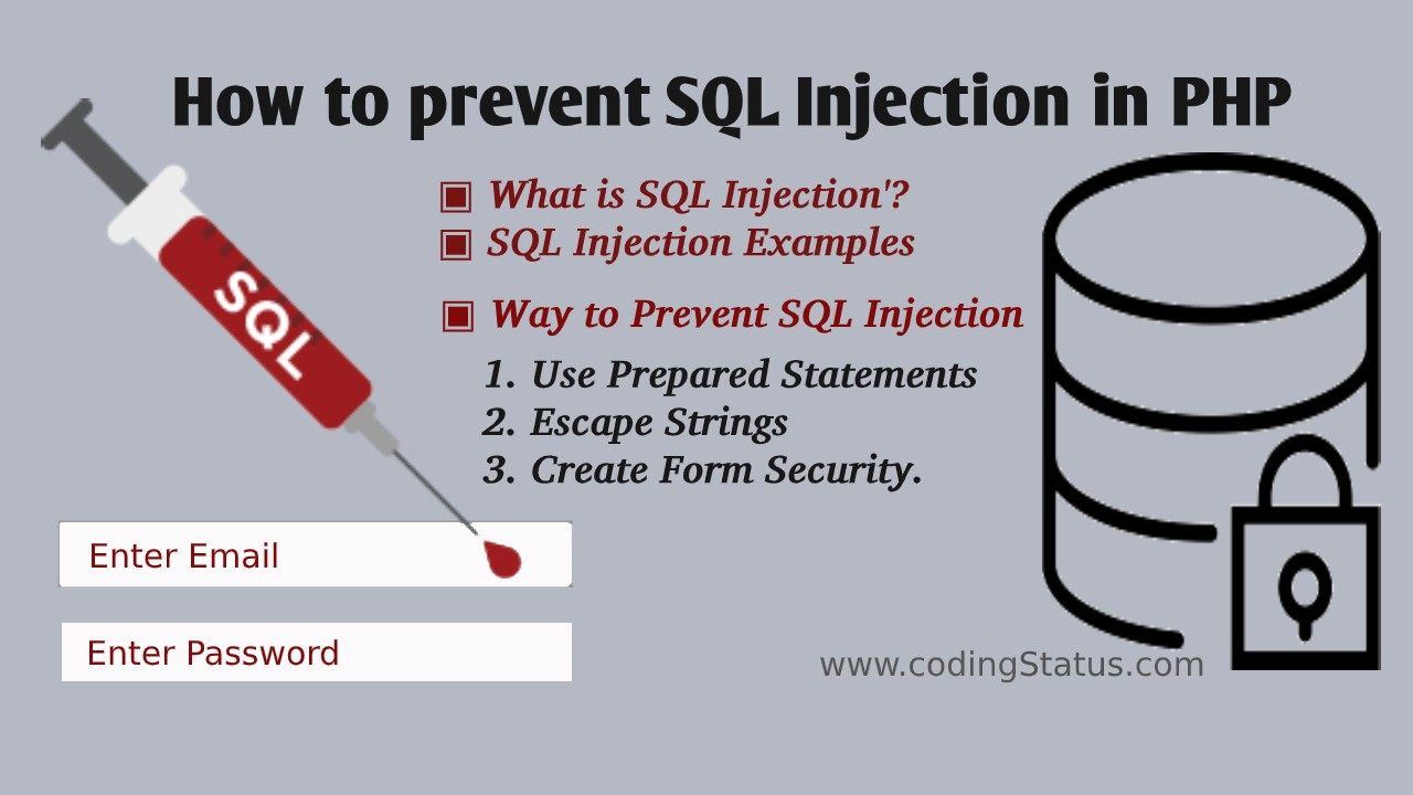 prevent sql injection in php
