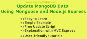 update mongodb data using mongoose