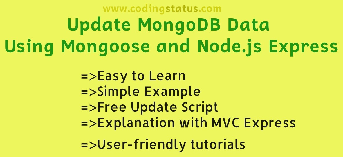 update mongodb data using mongoose