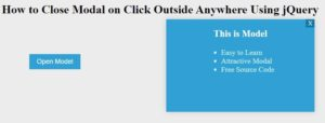 close modal on click outside anywhere using jquery