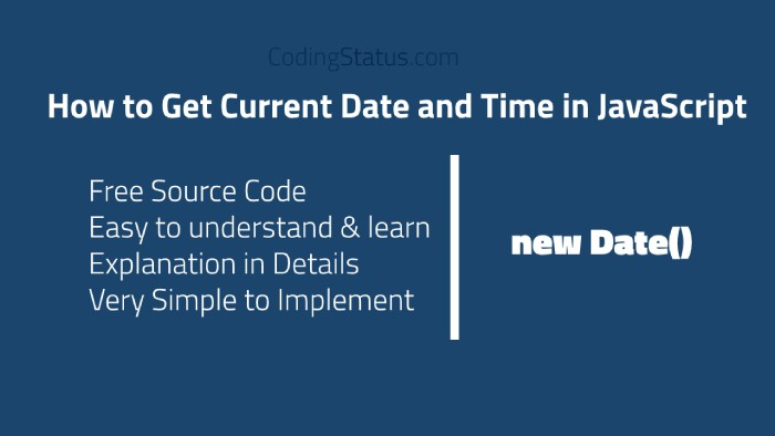 current date and time in javascript