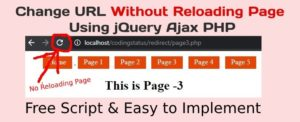 change url without reloading page using ajax jquery php