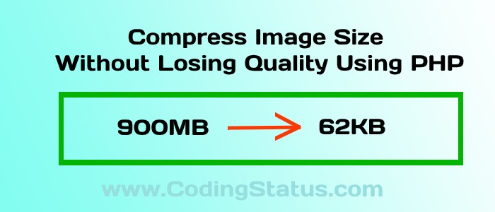 compress image size using php