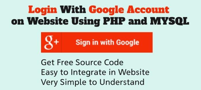 login with google account using php mysql