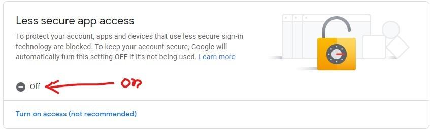 google account for sending mail in node.js
