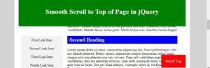jquery scroll top