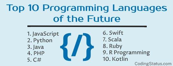 top 10 programming languages of future