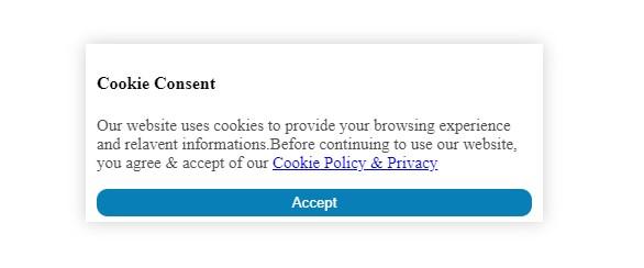 cookie consent popup javascript