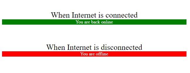 detect internet connection using jvascript
